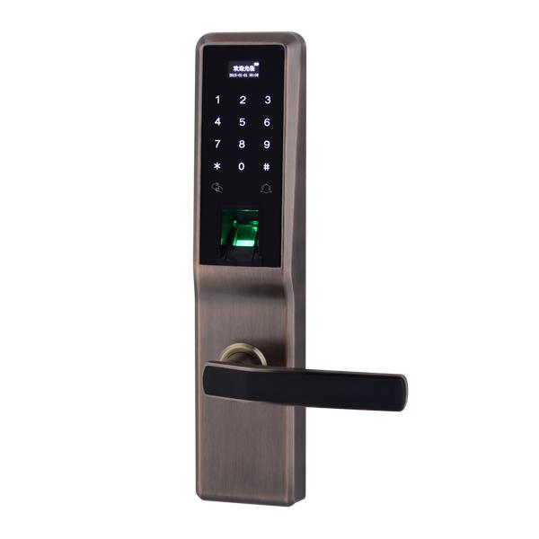 GLJ-8008新款指纹密码锁 防盗门锁